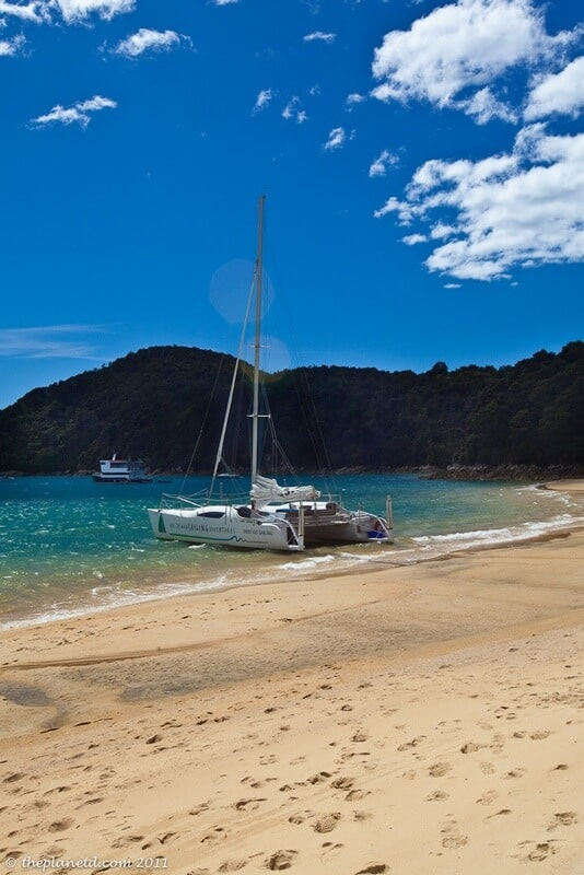 sailboat in the Abel Tasman