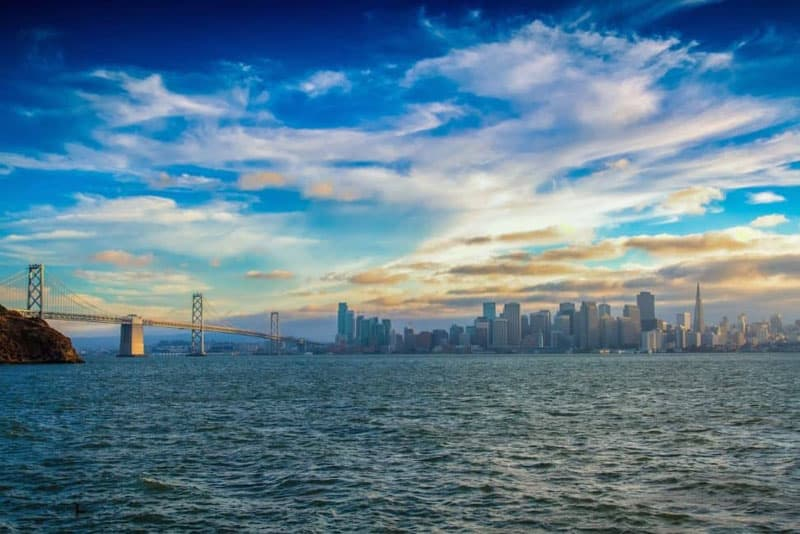 where to photograph in san francisco treasure island for skyline view