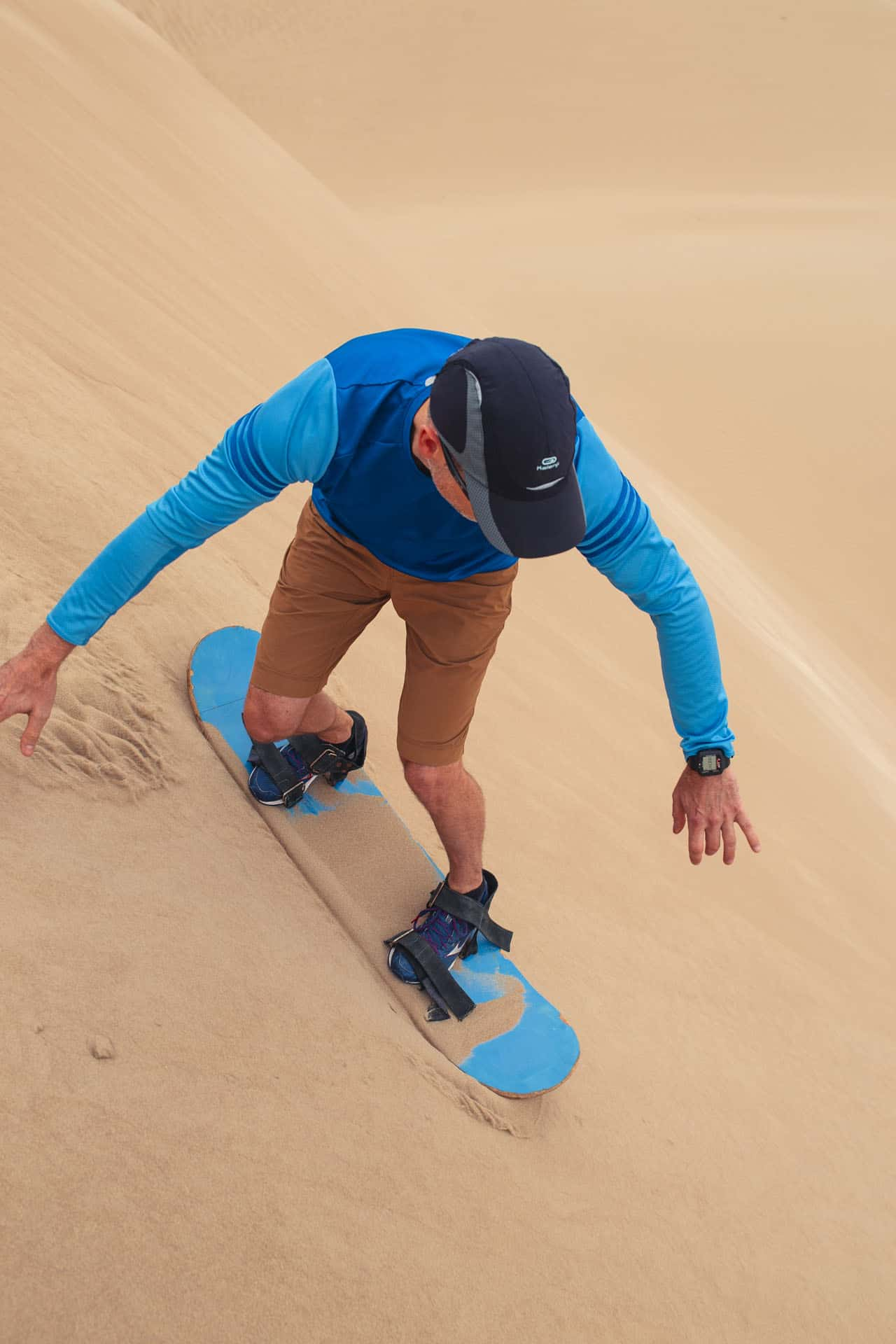 learning to sandboard in peru