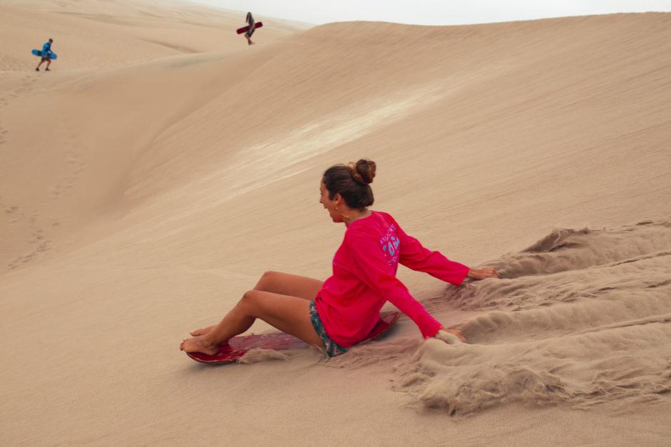 paracas peru sandboarding in the california desert