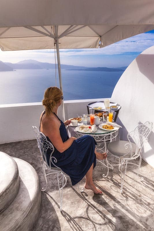 santorini greece meal