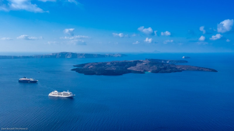 Santorini Photography Caldera with Cruise ships