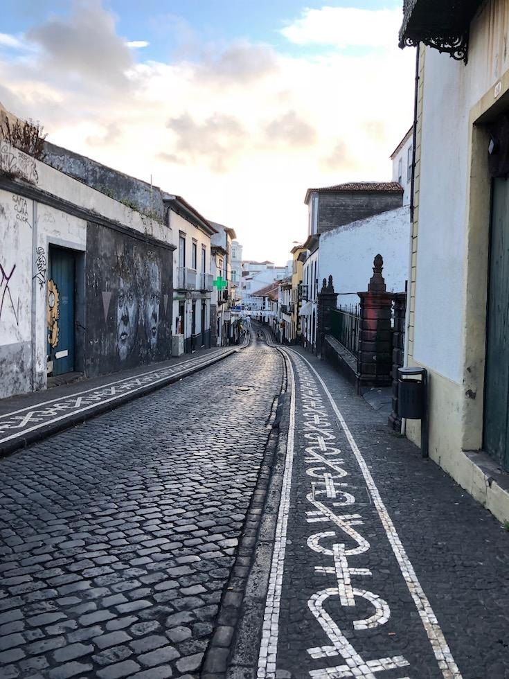 ponta delgada streets of the azores
