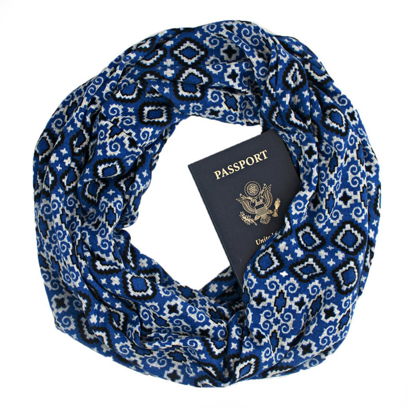 travel tips | hidden pocket scarves are a great gift