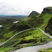Ben Nevis Mountain and country road Scotland