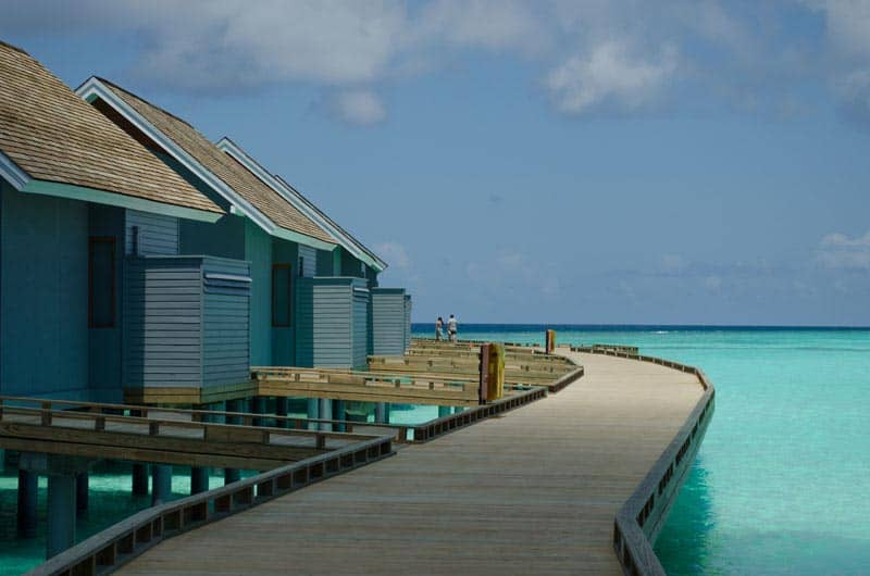 Maldives water bungalows
