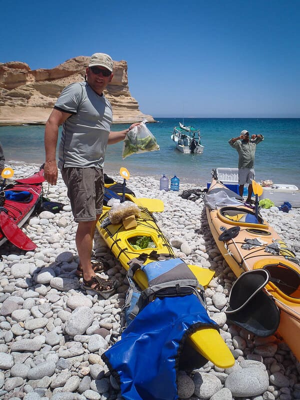 sea kayaking Baja Mexico boats