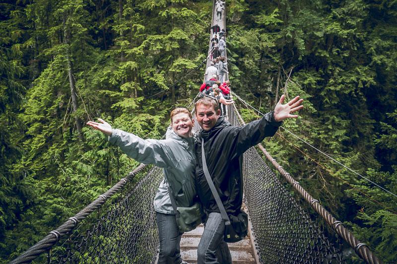 Visit the Capilano suspension Bridge