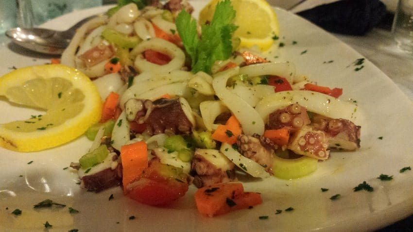 Italian seafood salad puglia food tour