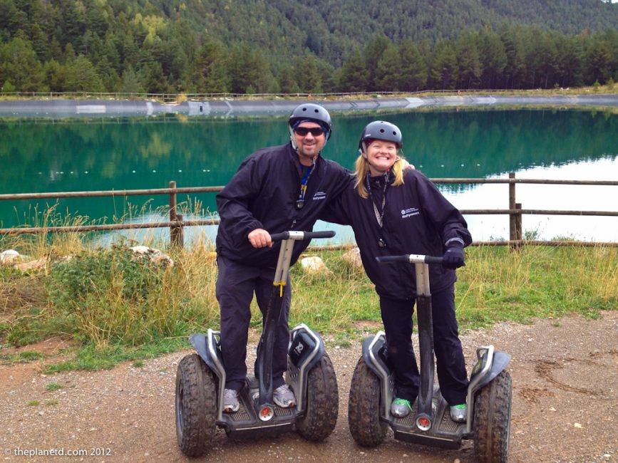 travel couple dave and deb on segways