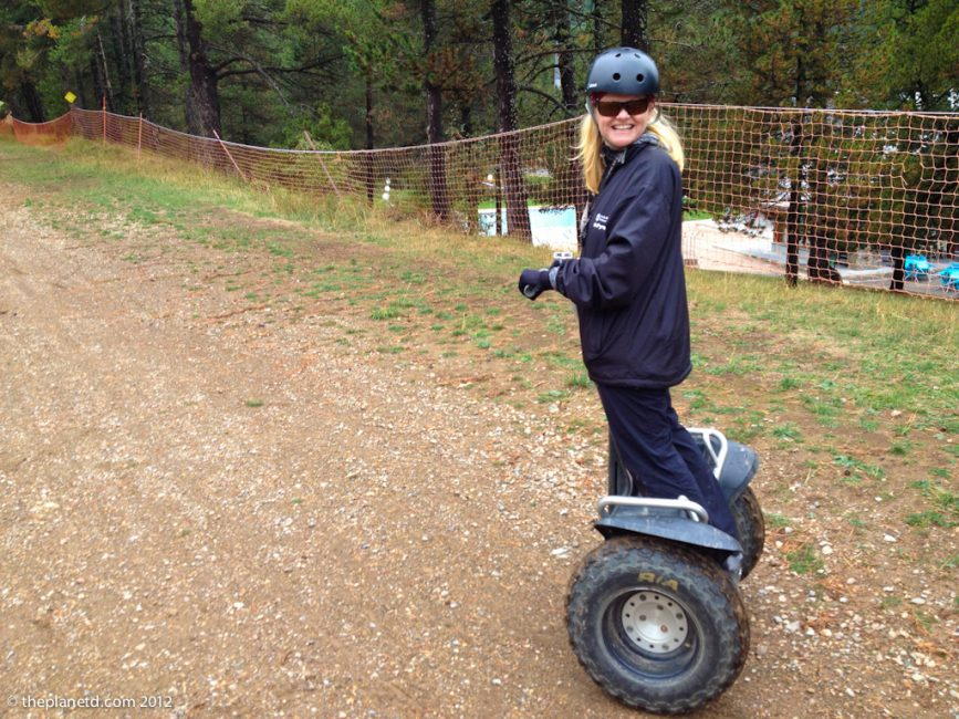travel writer Deb on Segway in Spain