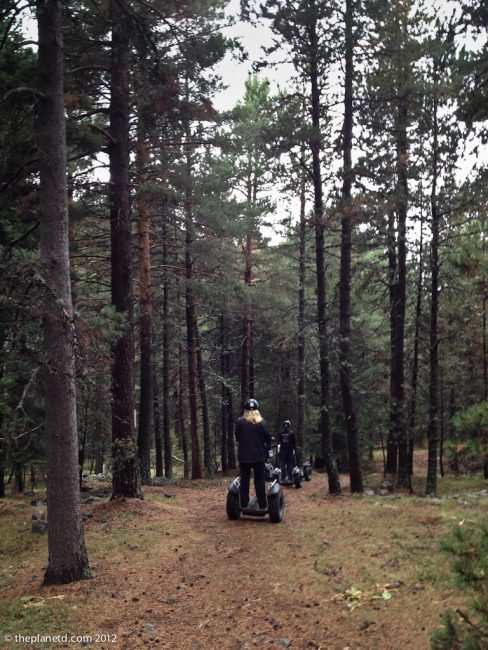 travel photos, segway tour through forest of spain