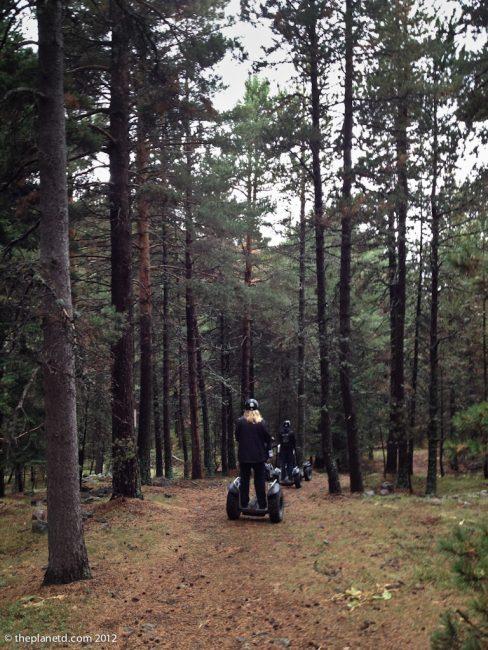 travel photos, segway tour through forest of spain