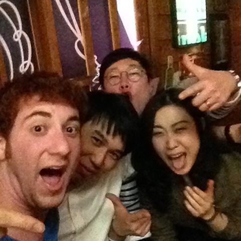 selfie with random koreans