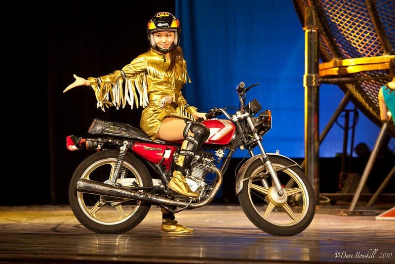 motorcycle segment of acrobat show