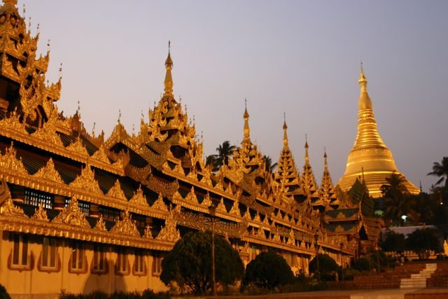 The Beautiful Shwedegon Pagoda in Yangon, Myanmar