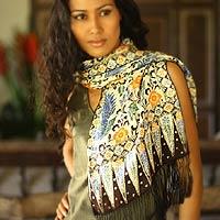 sarong as a scarf