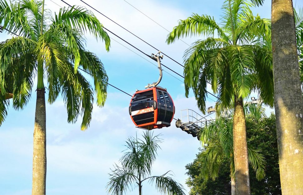 Starting Day 2 of your Singapore itinerary on the Sentosa Cable Car