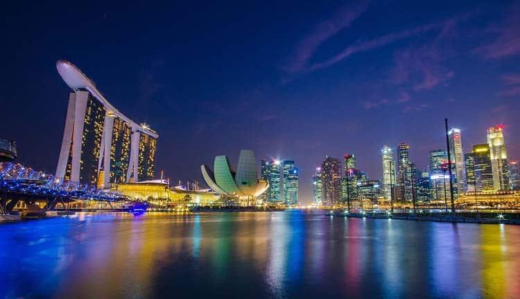 most beautiful city skyline | singapor