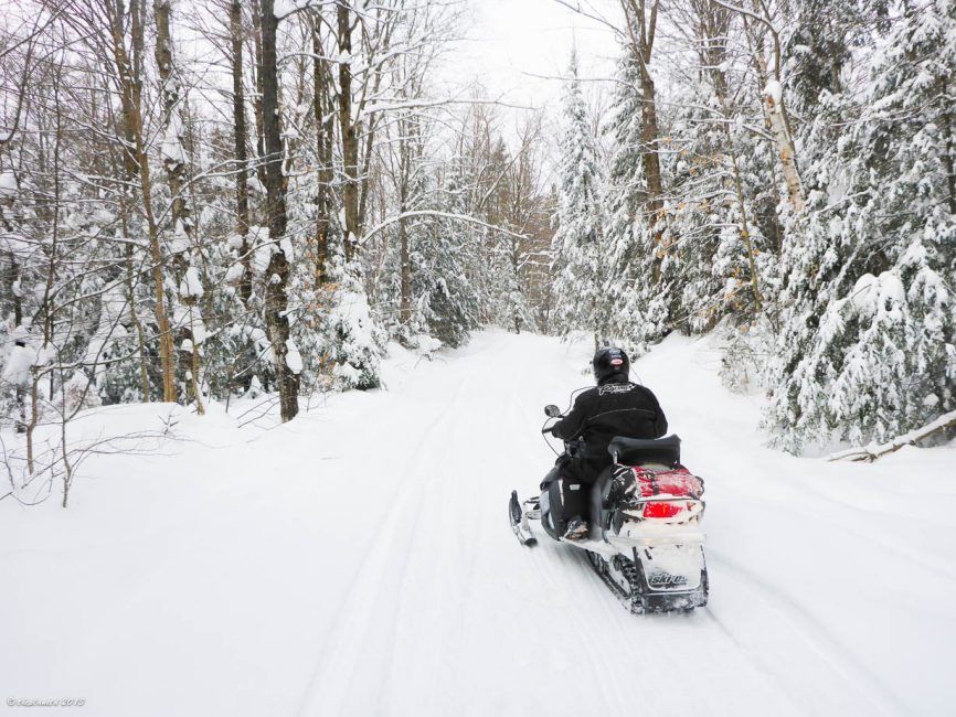 Some beautiful snowmobile trails in Haliburton, ON
