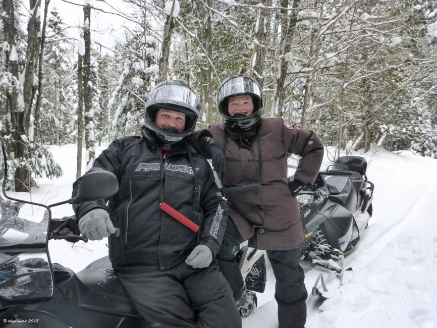Snowmobiling at Sir Sam's