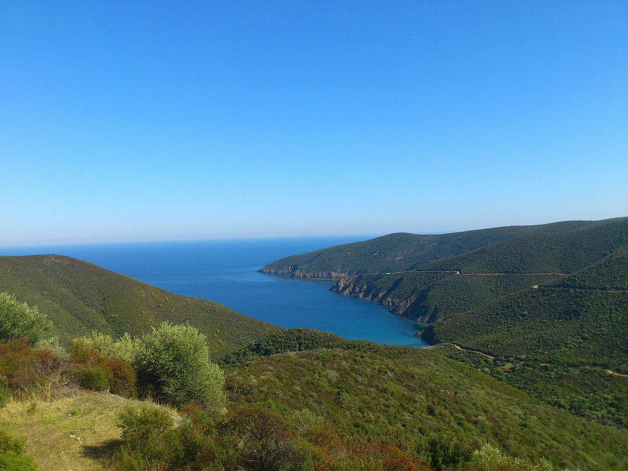 view of greece coast - beautiful places to visit