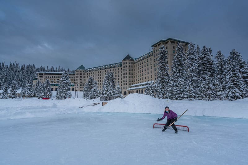 skating lake louise goal