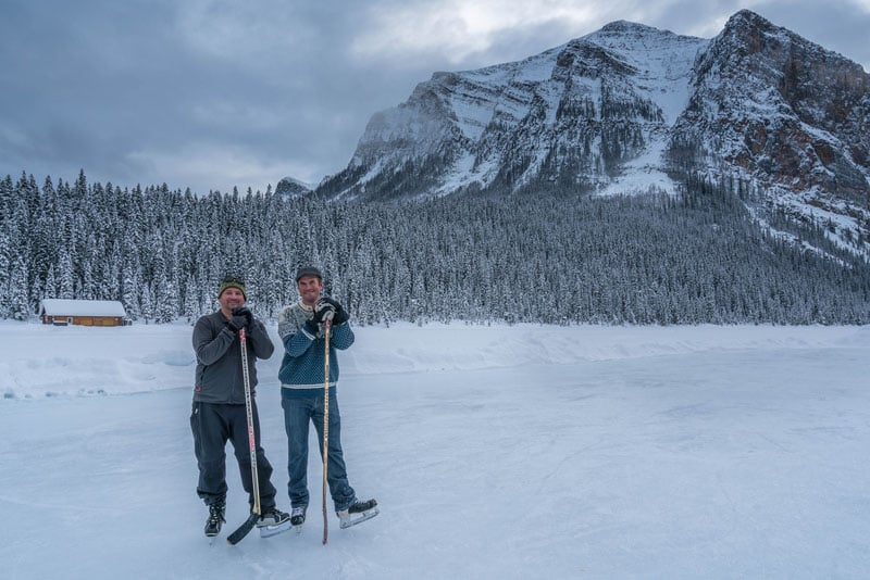 skating lake louise