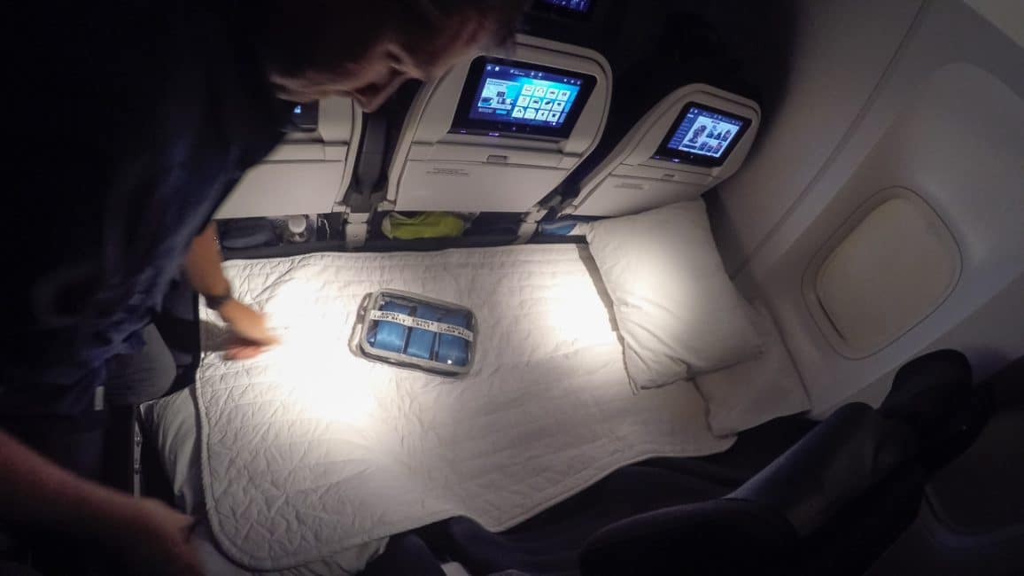 Skycouch bed on air new zealand