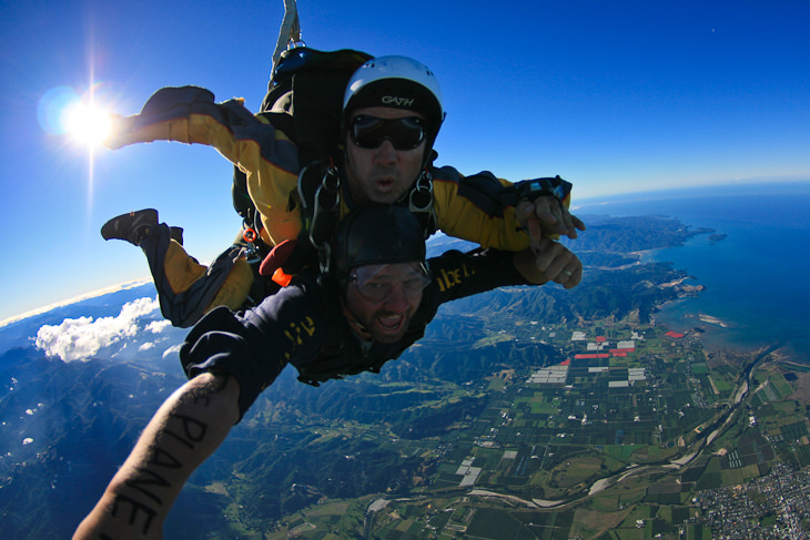 skydive able tasman flying