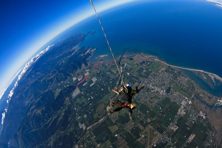skydive able tasman ocean