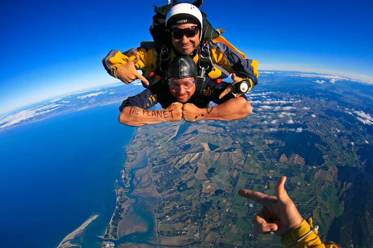 skydive freefall