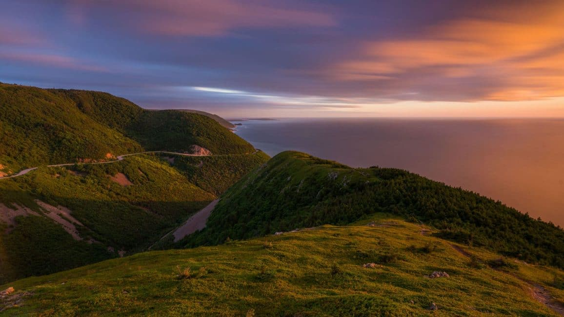 skyline-trail-cape-breton-nova-scotia-sunset