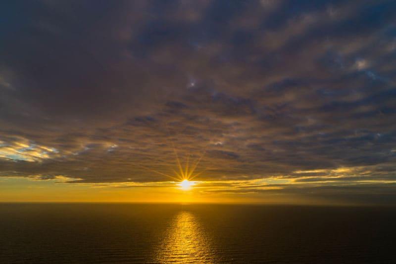 skyline trail sun