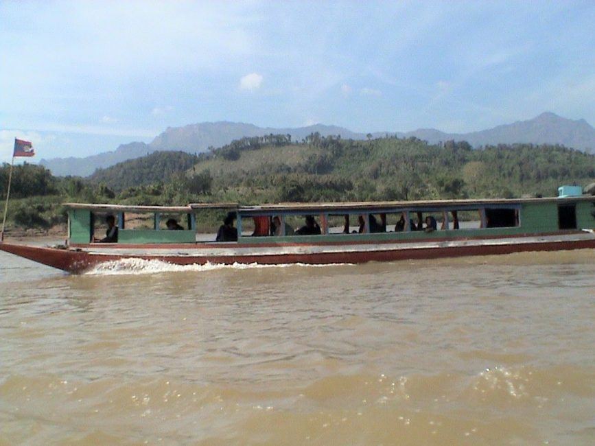 The Slow boat to Thailand on Mekong River
