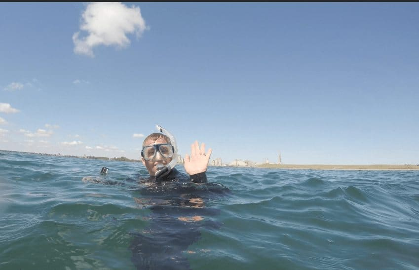 Time for some snorkelling in Alpena, Michigan