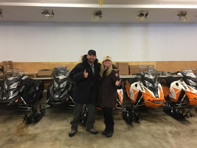 snowmobile quebec gearing up