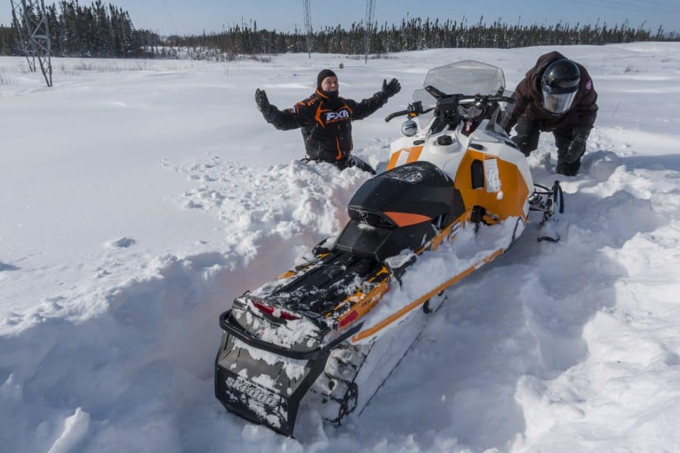 When you snowmobile Quebec it is an adventure
