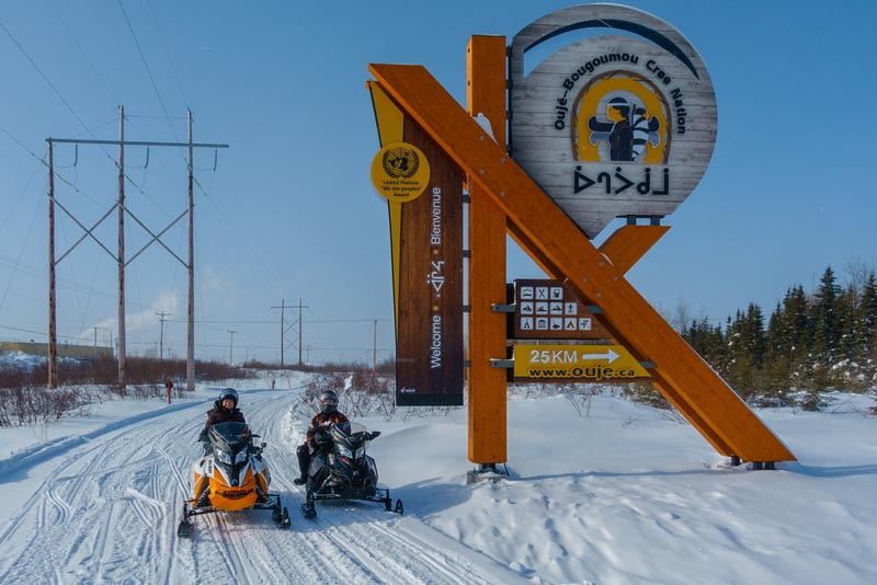 quebec snowmobile Chibougamau to  Oujee-Bougoumou.