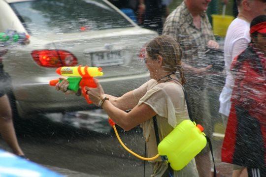 water gun songkran festival