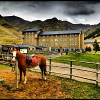 Spanish hotel with horse