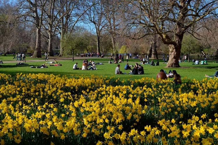 three days in london itinerary | saint james park