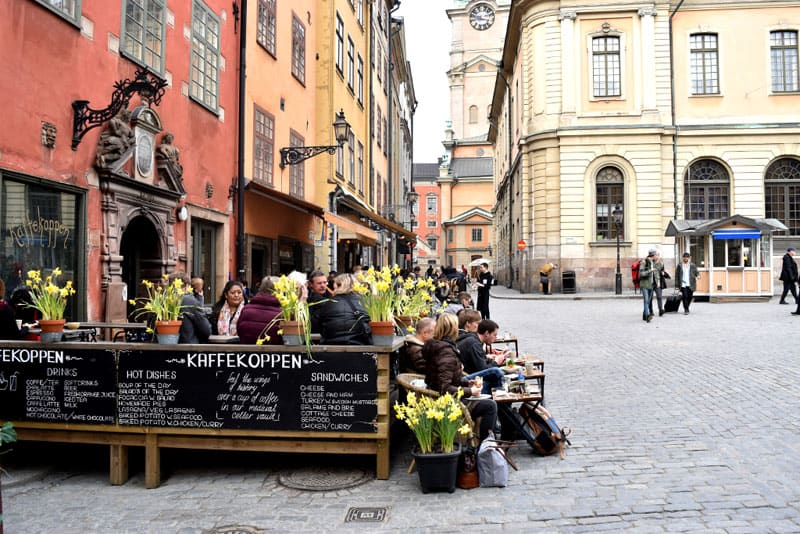 stockholm on a budget cafe