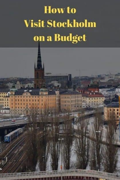 stockholm on a budget pin