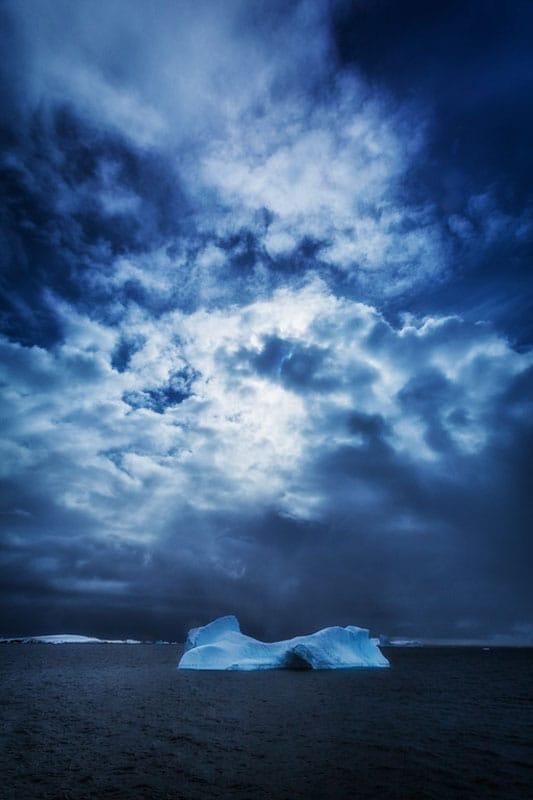 Antarctica pictures stormy sky