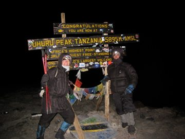 At the Summit of Mount Kilimanjaro Africa