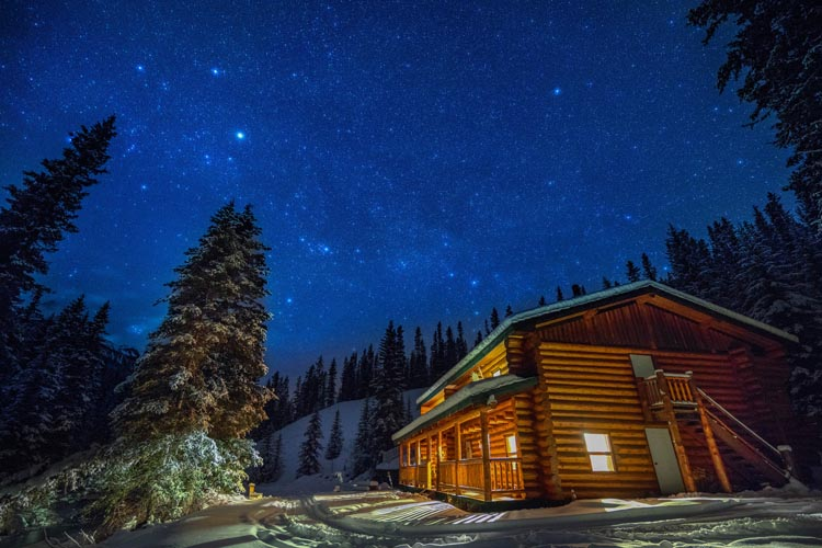 Explore a backcountry lodge in Banff Canada