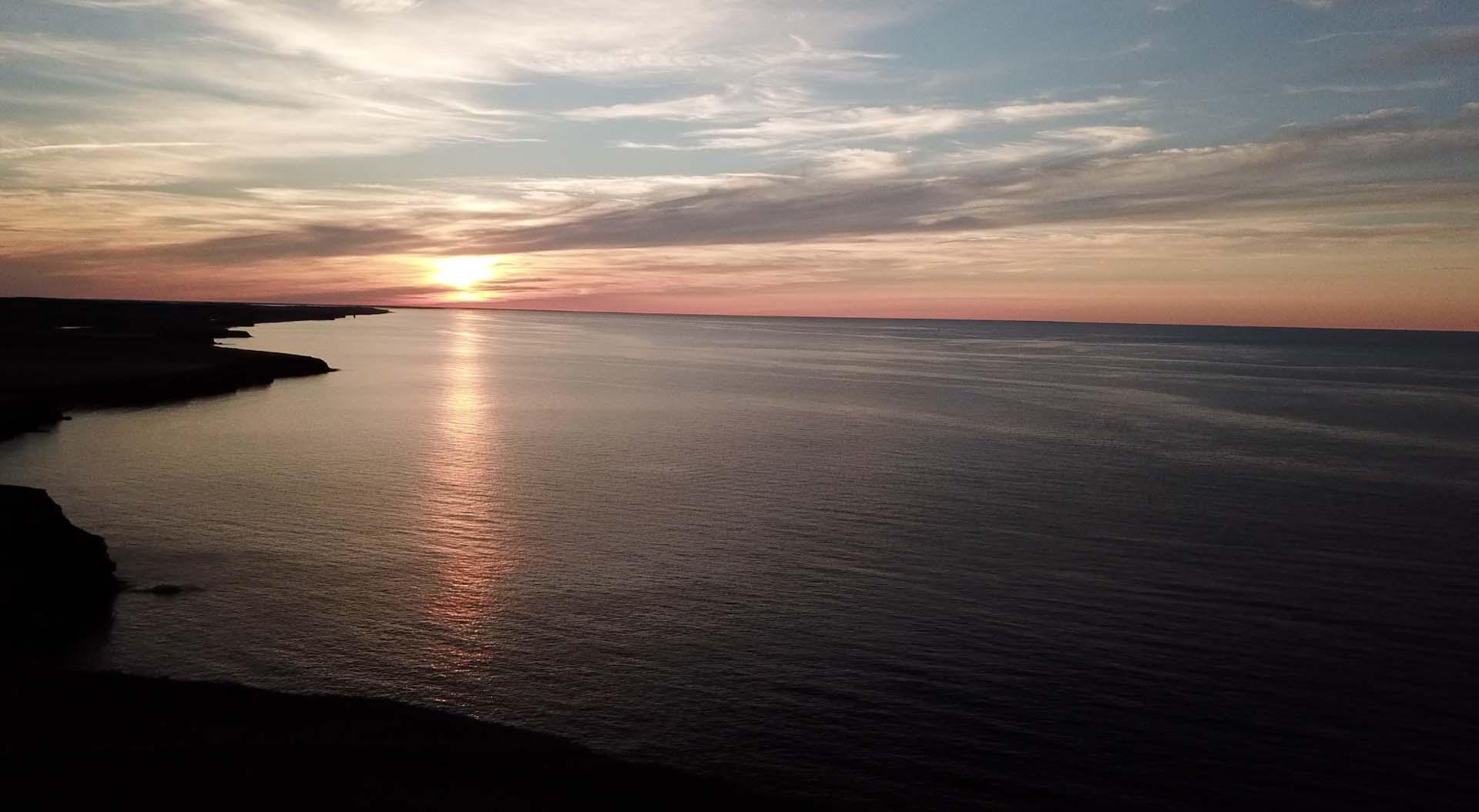 beach of Prince Edward Island at sunset