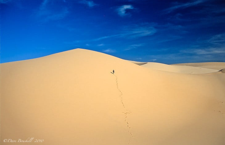 surreal desert moments walking sand
