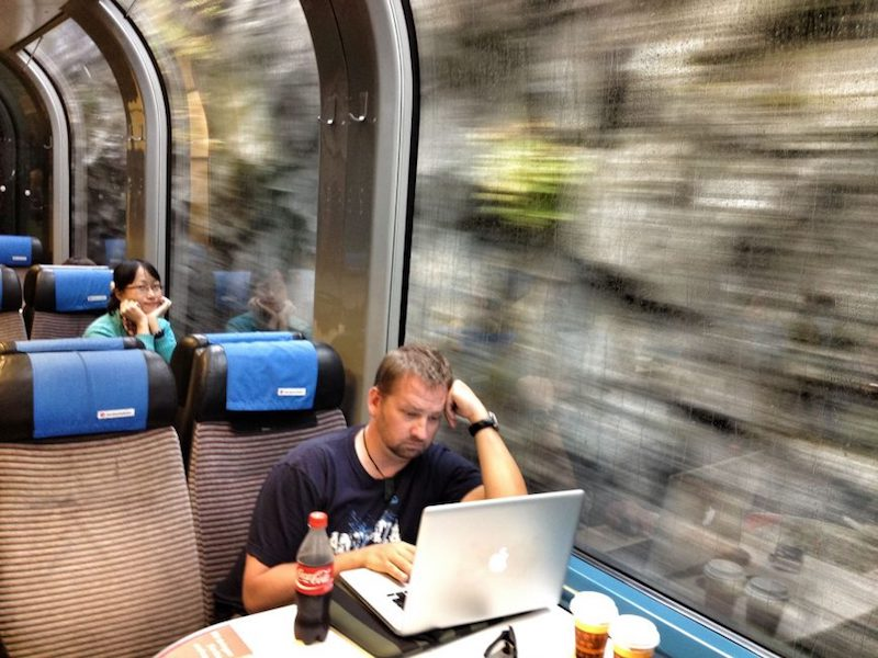 swiss rail travel laptop